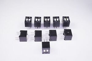 Lot of 10 208-2 CTS Corp DIP Switch 2 Pos Slide SPST 50mA 24VDC Vert 4 PC Pin