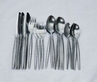 Oxford Hall BRITTANY Pattern Stainless Flatware 22 Pieces Knives Forks Spoons