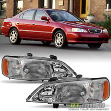 1999 2000 2001 Acura TL Headlights Headlamps Replacement 99 00 01 Set Left+Right