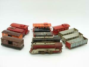 Hafner Trains O Gauge 13 Piece Lot Runners, Parts, Repairables