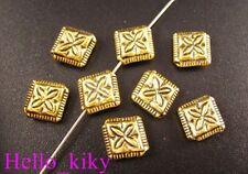 60PCS Antiqued gold plt cross diamond spacer beads A59
