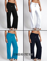 Womens Ladies EX-M&S Wide Leg Crêpe Beach Summer Casual Trousers.