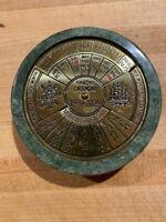 Vintage 40 Year Perpetual Nautical Theme 1990-2029 Desk Calendar Brass & Marble