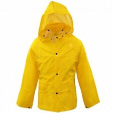 Boss 35mm Lined PVC Rain Jacket Yellow X-Large