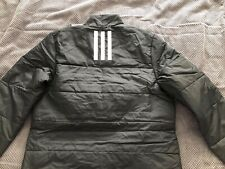 Adidas 3 Stripe Insulated Jacket Mens Black Size L (Large) BRAND NEW! GENUINE!