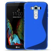 Handy Cover LG V10 Silikon Hülle Case Schutz Slim Gummi Tasche Backcover Blau