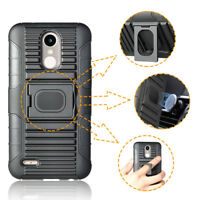 Shockproof Rubber Armor Impact Rugged Kickstand Cover Belt Clip Holster Case