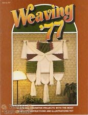 Weaving '77 Vintage Pattern Project Instruction Book New Taurus Publications