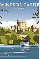 Windsor Castle Across River Thames By Dave Thompson fridge magnet   (se)