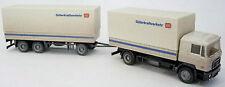 Herpa Man F90 Roadtrain Db Güterkraftverkehr Dirty Spedition Truck 1:87 H0