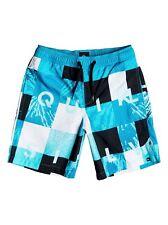 "Quiksilver Check Remix 15 "" Swim Shorts Blue Age 16 Td087 FF 09"