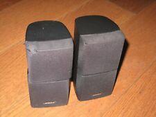 2 X BOSE BLACK DOUBLE CUBE ACOUSTIMASS 5 10 15  LIFESTYLE 18 28 SPEAKERS ETC
