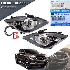 Set Front Head Lamp Light Black Genuine Trim Fits Mazda BT-50 Pickup 2016 - 2017