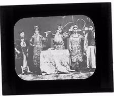 1931 Chinese Actors In Costumes China OLD GLASS PHOTO MAGIC LANTERN SLIDE 566B