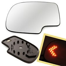 Heated Mirror Glass w/ Turn Signal Left LH Driver Side for Chevy Pickup Truck