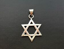STERLING SILVER 925 STAR OF DAVID MAGEN NECKLACE PENDANT MENS JEWELRY CHARM NEW