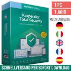 Kaspersky Total Security 2021  1 Gerät 1 Jahr  inkl. Internet Security <br/> kostenloser Support✔ DE-Händler✔ Anleitung✔ Rechnung✔