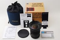 MINT!!! Contax 35mm F3.5 Carl Zeiss Distagon T* Lens for Contax 645 **OH** #333