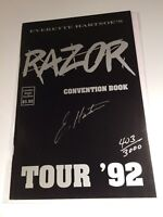Razor Convention Book Tour '92 Everette Hartsoe signed/numbered London Night 1