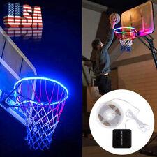 LED Basketball Frame Lamp Waterproof Solar Basket Induction Color Light Strip US