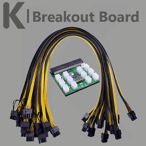 Breakout Board inkl.12x Kabel HP Server Netzteile Mining Bitcoin Ethereum 1600W
