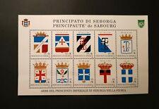 SEBORGA PRINCIPALITY - foglietto 10 francobolli 2000 - le Armi del Principato
