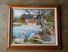"C Carson Oil Painting Canvass print #833/950 ""School's Out"""
