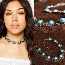 Chunky Choker Women Crystal Jewelry Pendant Chain Statement Bib Necklace CHI