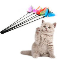 Kitten Cat Pet Toy Chaser Wand Teaser Feather With Bell Interactive Play FunSale