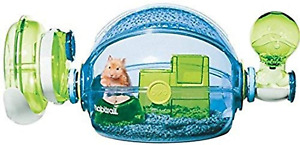 Hamster Cage Sliding Door Air Vent Hamsters Rodent Pet House Cages Blue Plastic