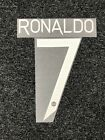 RONALDO 7, European & Cup White Nameset Manchester Utd