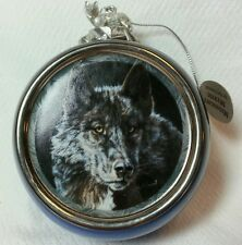 Midnight Mystic Ornament by Vivi Crandall 1999 Bradford Editions 68012 Wolf Bulb