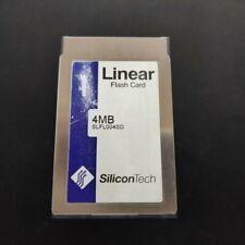 Linear Flash Card PCMCIA SLF004SD SiliconTech