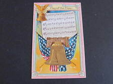 Flag of the Free US Patriotic Song Postcard