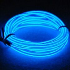 New LED EL Wire Neon Light 5M Glow Rope Tube Car Dance Party 12V - Blue Colour