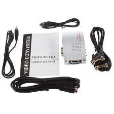 PC Laptop VGA to AV RCA TV Monitor S-video Signal Adapter Converter Switch Box
