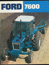 Ford 7600 Tractor Sales Brochure / Literature