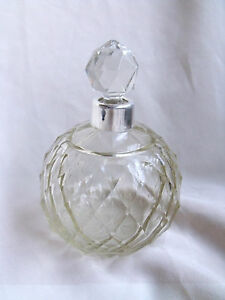 STUNNING ANTIQUE / VINTAGE HONEYCOMB SILVER PERFUME SCENT BOTTLE Christmas