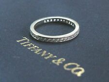 Tiffany & Co Platinum Diamond Channel Set Eternity Band Size 5 2.3mm