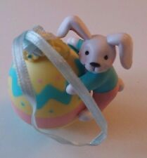 Vintage Avon Gift Collection Busy Bunny Easter Ornament Bunny Rabbit With Egg