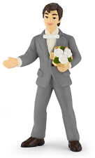 NEW PAPO 39012 Groom with Flower Bouquet Figurine 10cm - RETIRED