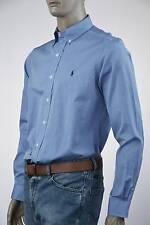 Ralph Lauren Blue Long Sleeve Shirt-Navy Blue Pony-NWT