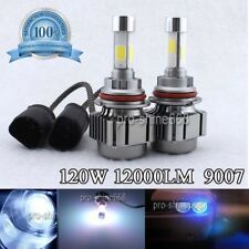 Car 9007 120W 12000LM COB LED Headlight Kit Hi/Low Beam Bulbs Lamp BLUE PURPLE