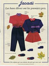 PUBLICITE ADVERTISING 114 1993 JACADI vêtements pour enfants