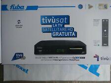 DECODER FUBA ODE715HD TIVUSAT HD HEVC-nuovo garanzia italia-inclusa tessera