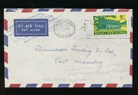 PAPUA NEW GUINEA 1961 EARLY SLOGAN CANCEL TRAIN FOR TOMORROW PORT MORESBY TP+NG