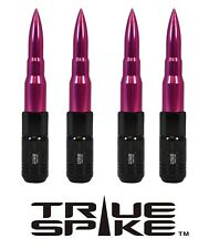 20 TRUE SPIKE 121MM 12X1.25 PINK EXTENDED STEEL TUNER SPIKED BULLET LUG NUTS