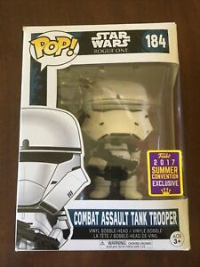POP! Star Wars COMBAT ASSAULT TANK TROOPER  #184 SDCC 2017 Exclusive NIB