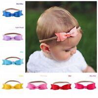 10 Colors Cute Newborn Baby Girl Toddler Kids Bow Headband Hair Band Headwear