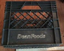 Milk Crate Heavy Duty Black Plastic Storage Container Stackable Bin See Pics